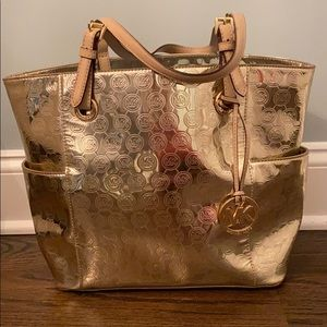 Michael Kors Reflective Gold Tote Bag
